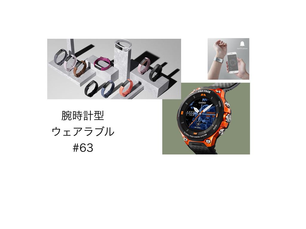 話題の腕時計型ウェアラブルをピックアップ #63