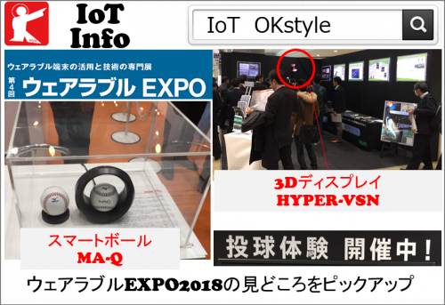 【IoTinfo】ウェアラブルEXPO2018の見どころをピックアップ Vol.03 #160