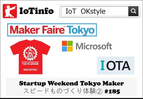 【IoTreport】8/3-5:Startup Weekend Tokyo Maker スピードものづくり体験② #185