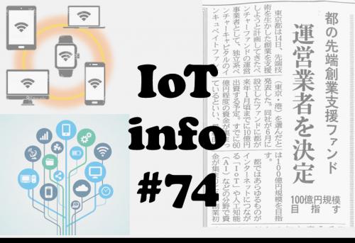 東京都 先端技術IoTやAIへ創業支援ファンド 100億円 #74