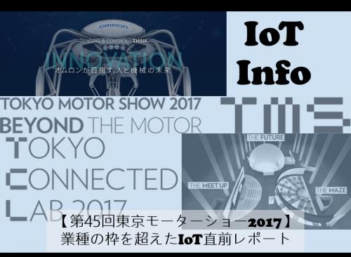【第45回東京モーターショー2017】業種の枠を超えたIoT直前レポート #106