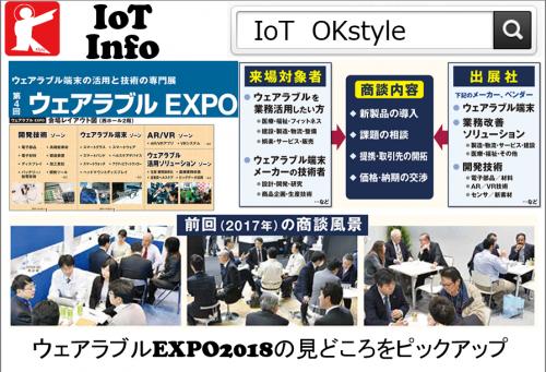 【IoTinfo】ウェアラブルEXPO2018の見どころをピックアップ Vol.02 #159