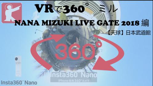 【360°VR】NANA MIZUKI LIVE GATE 2018 in 武道館 公演前を360°でミル #62