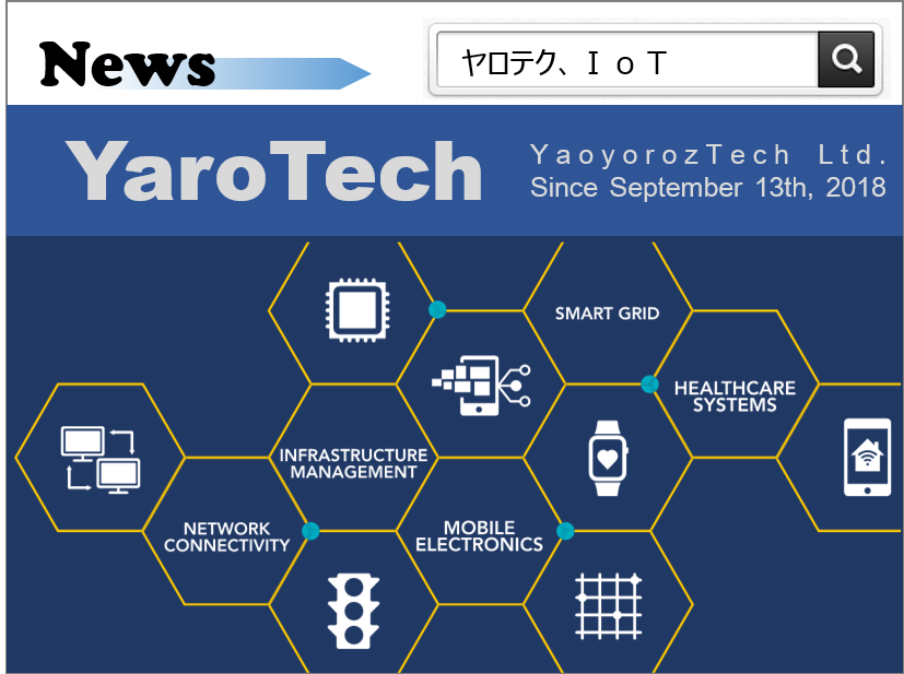 IoTプロダクト企業設立&ホームページ開設